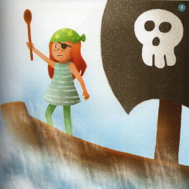 Ilustración Piratas, Brujas, Hadas._